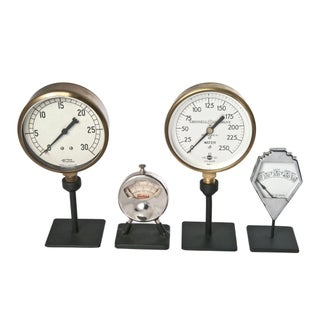 Vintage Industrial Gauges - Set of 4