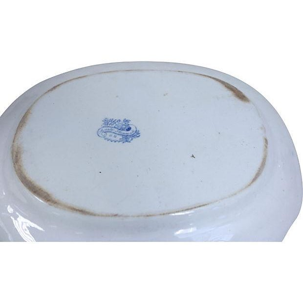 Image of Antique English Ironstone Asiatic Pheasant Platter