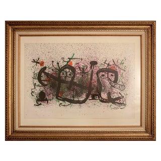"1970 Joan Miro ""Mae de Proverbis"" Lithograph Print"