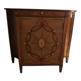 Louis XVI Neoclassical Style Hand Painted Wooden Cabinet/Chiffonier