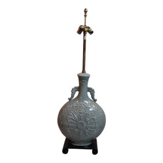 Grand Marbro Celadon Glaze Vase Lamp