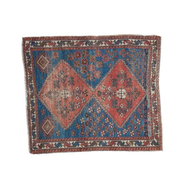 "Distressed Antique Persian Square Rug - 3'3""x3'10"" - Image 1 of 7"