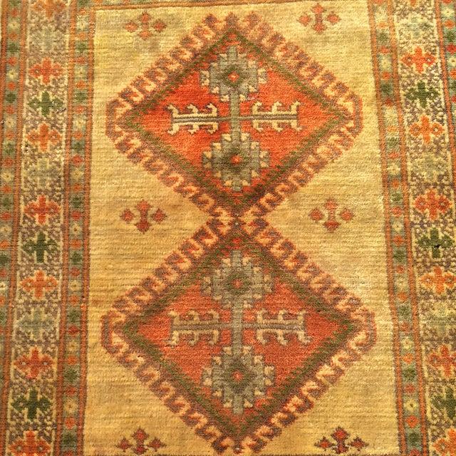 "Antique Turkaman Yellow Persian Rug - 2'1"" x 2'11"" - Image 4 of 6"