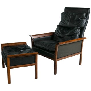 Danish Mid-Century Modern Lounge Chair And Ottoman