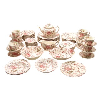 Vintage English Transferware China Service - Set of 75