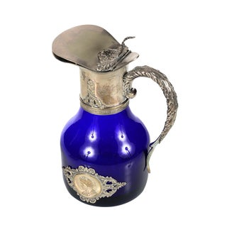 Cobalt Blue & Silver French Pitcher