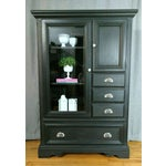 Image of Refurbished Black Armoire Cabinet