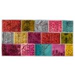 Image of Apadana Multicolor Patchwork Overdye Rug - 3' x 6'