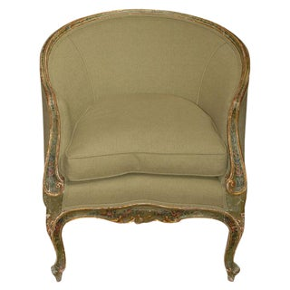 Painted and Gilt Bergere Chair