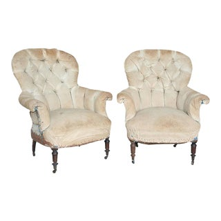 Pair of Tufted Armchairs