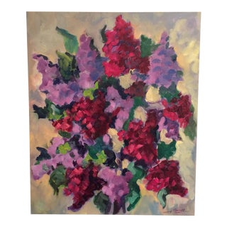 Abstract Hydrangea Painting