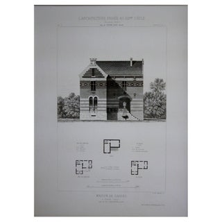 Cesar Daly 19th Century Architectural Drawing II