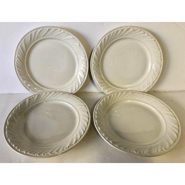 White Simon Pearce Dinner Plates - Set of 4 - Image 3 of 5