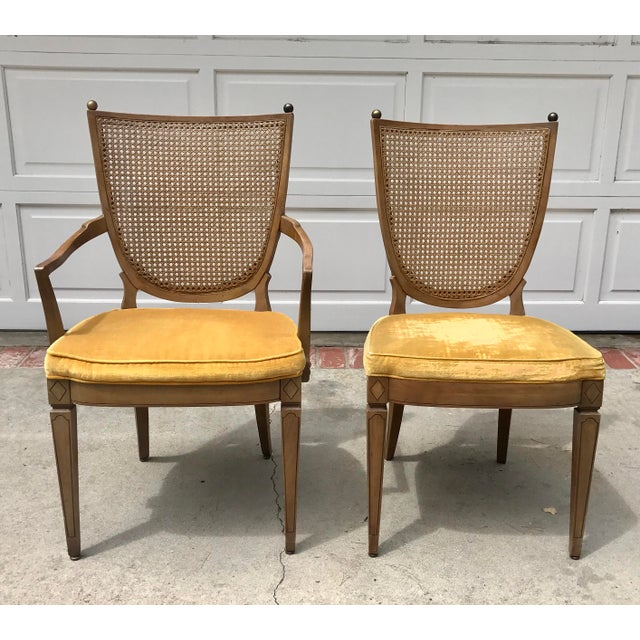 Vintage Caned Back Chairs - A Pair - Image 2 of 7