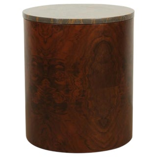 Prospect Table in Walnut Burl and Bronzetto Marble by Lawson-Fenning