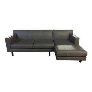 Elite Leather Contemporary Sectional