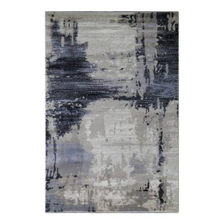 "Brown Abstract Area Rug - 2'8"" x 5'"