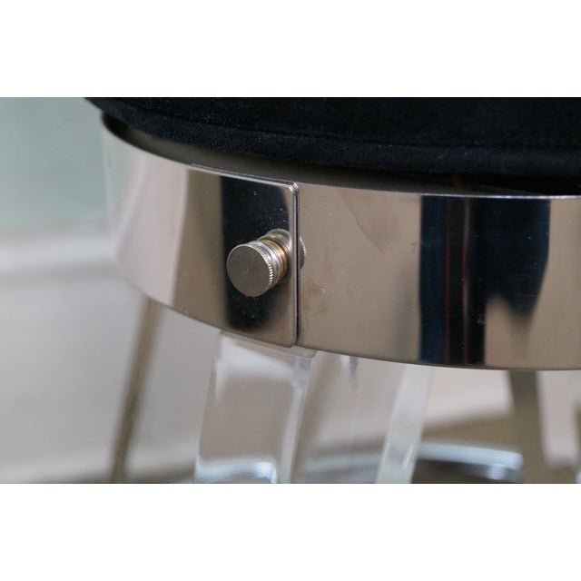 H. Studio Lucite Gumdrop Bar Stools by Haziza -- Set of 4 - Image 9 of 10