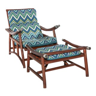 Ficks Reed Far Horizon Collection Lounge Chair & Ottoman