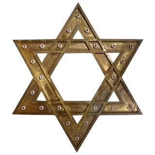 Bronze Star of David Chandelier