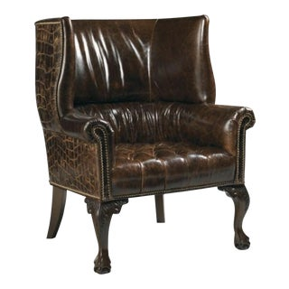 Kenya Crocodile Wingback Chair