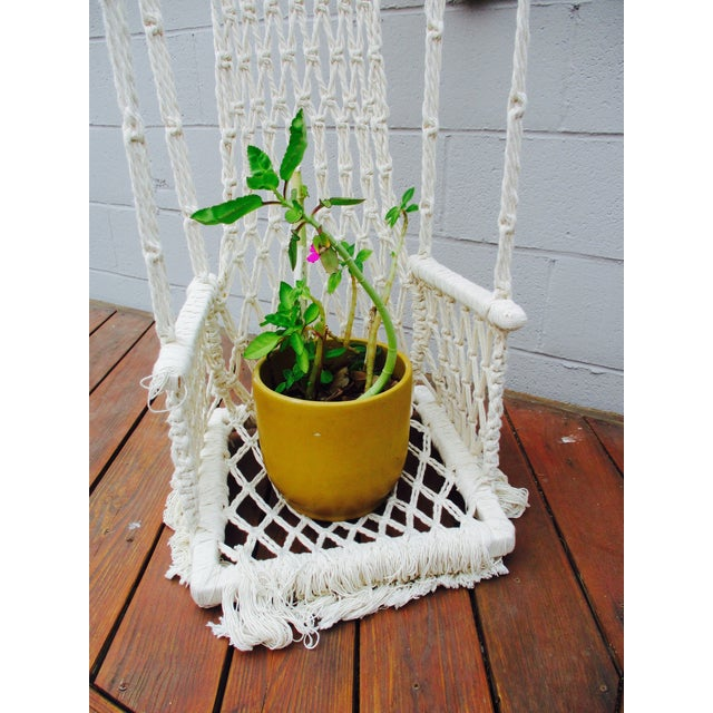 Bohemian Macrame Plant Swing - Image 9 of 11