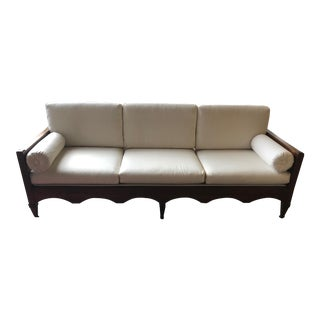 Vintage Lattice Wood Frame Sofa