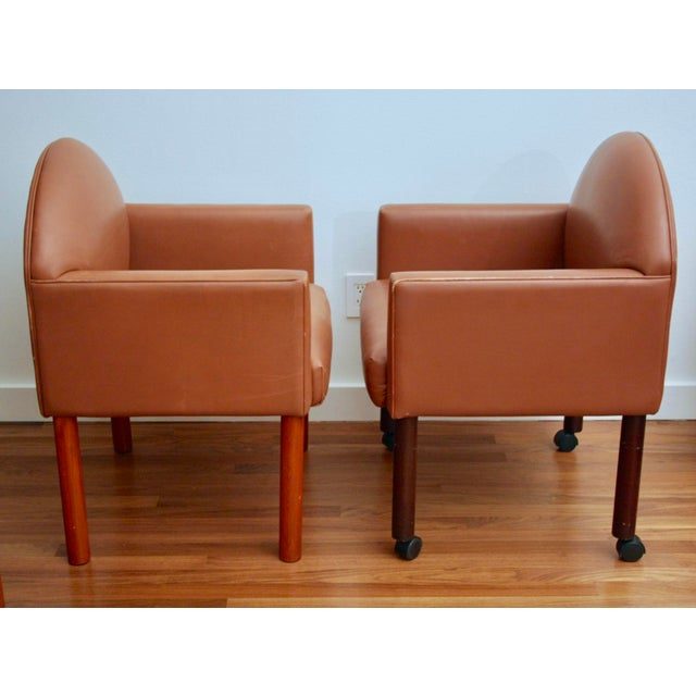 Postmodern Leather Chairs, Set of 2 - Image 6 of 11