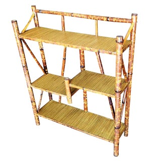 Tiger Bamboo Four-Tier Bookshelf