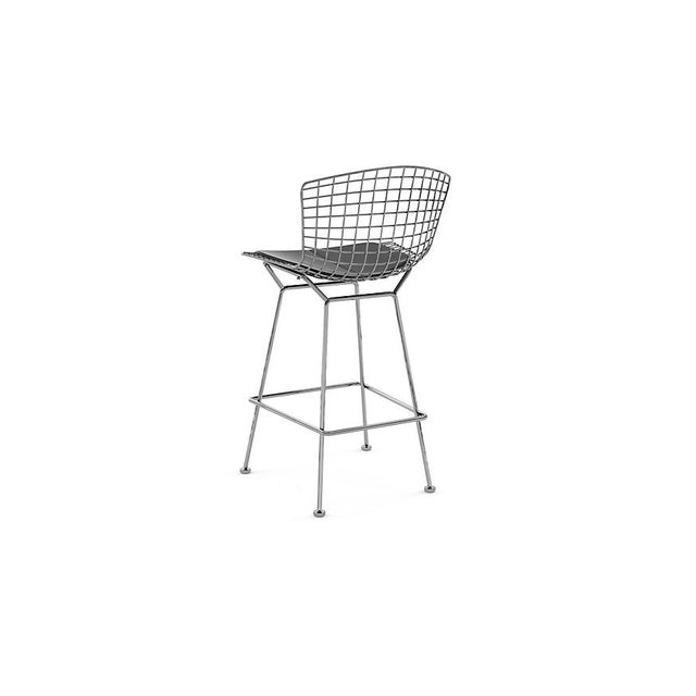 Bertoia Counter Stools With Seat Pads - Set of 3 - Image 3 of 11