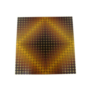 Vasarely Op Art Lithograph