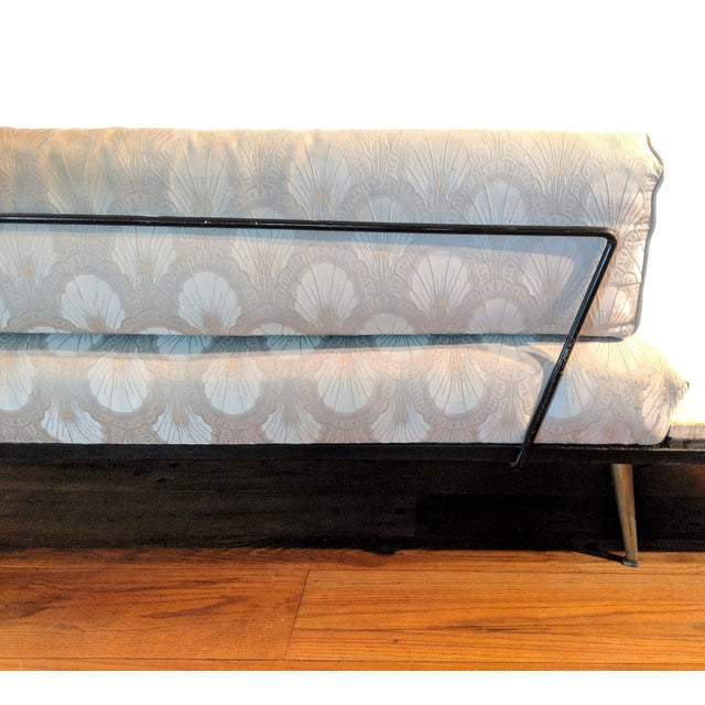 Pearsall Sofa & Attached Travertine End Tables - Image 4 of 10