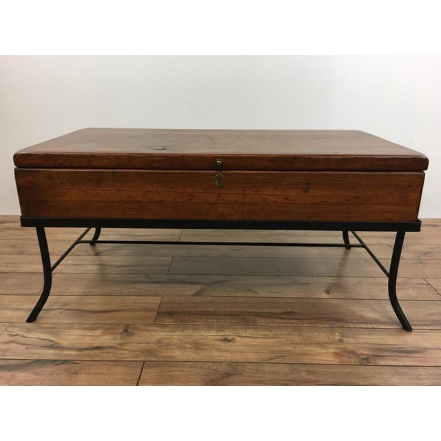 Contemporary Wood Trunk Top Coffee Table Chairish