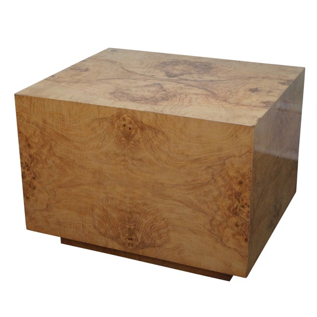 Mid Century Burlwood Cube Coffee Table Chairish