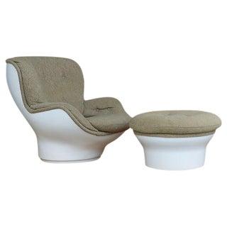 Michel Cadestin Vintage 1960s Chair & Ottoman