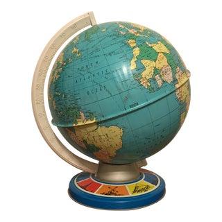 Vintage Ohio Art Tin Lithograph Metal Globe