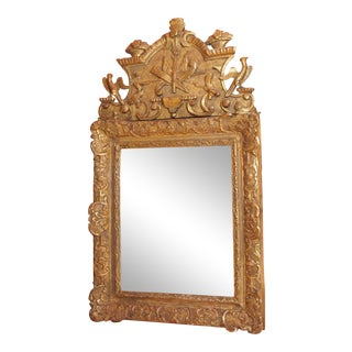 18th Century French Gilt Wood Mirror