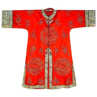 Old Chinese Red Silk Coat #3
