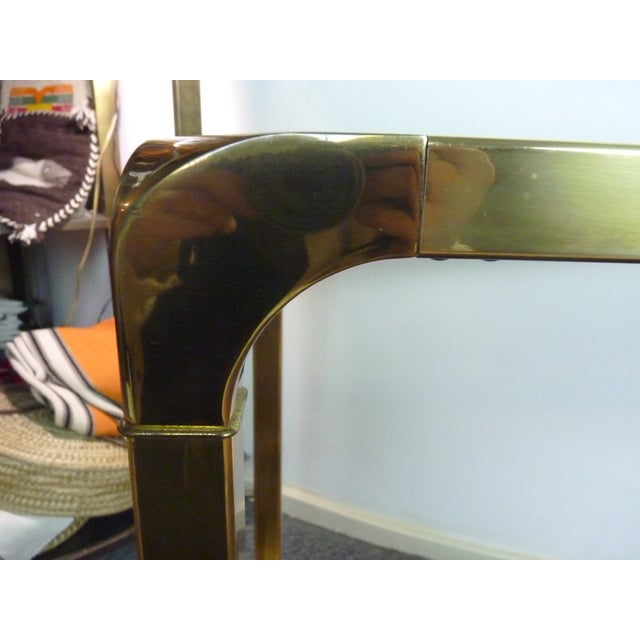 Mastercraft Vintage Brass & Glass Console Table - Image 10 of 11