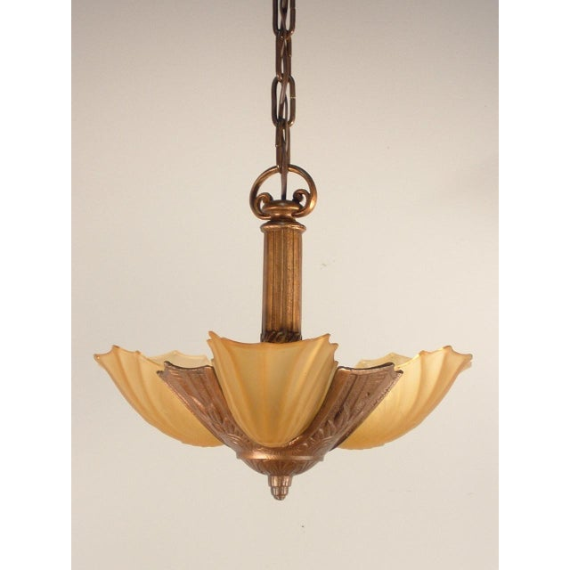 Art Deco Pendant Fixture (3-Light) - Image 2 of 6