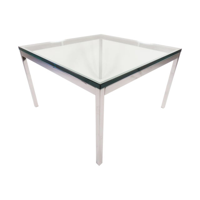 Image of Vintage Florence Knoll Chrome Coffee Table