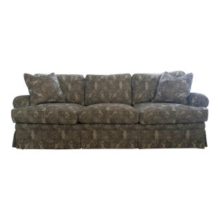 Bohemian Print Black & Gray Roll Arm Sofa