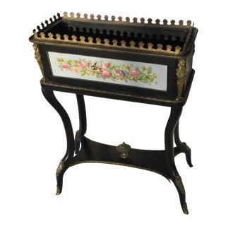 Victorian Ebonized Wood Planter Box