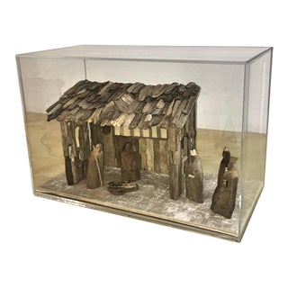 Nativity Scene in Driftwood and Lucite Object D'Art by AMK for Patricia Kagan