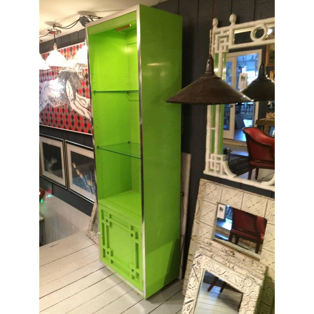 Image of Thomasville Mid-Century Laquer Cabinets - Pair
