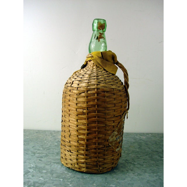 Image of Vintage Bacardi Rum Wicker Covered Bottle