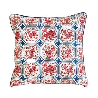Handmade Javanese Chinoiserie Batik Pillow Cover
