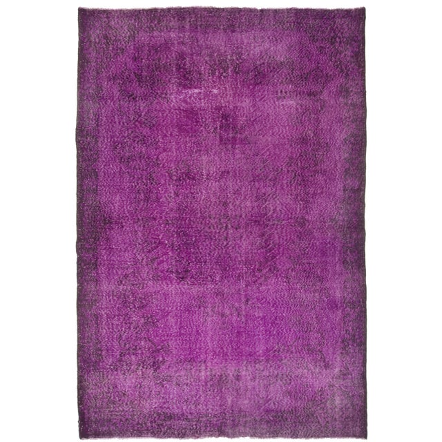 Turkish Vintage Over-Dyed Rug - 6′11″ × 10′4″ - Image 1 of 2