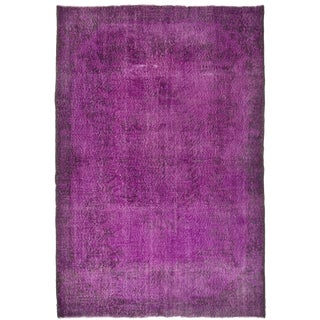 Turkish Vintage Over-Dyed Rug - 6′11″ × 10′4″