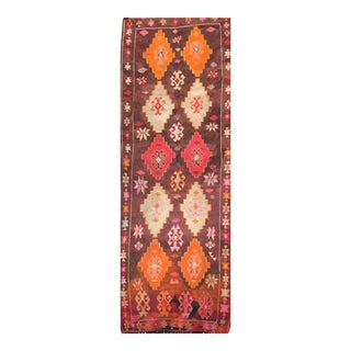 Vintage Turkish Kilim Rug - 4' x 10'